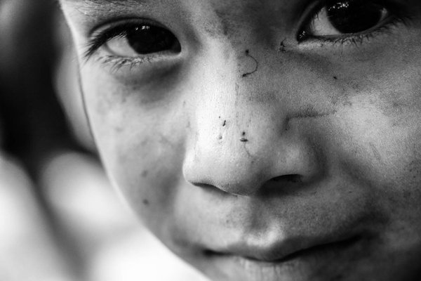 The face of a child within the slums of Honduras thumbnail