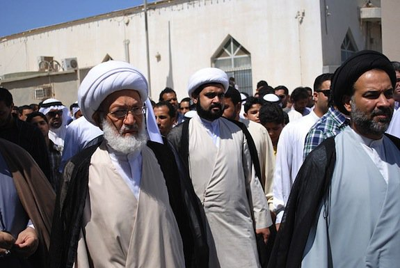 Clerics take part in a protest against innocence of Muslims, an anti-Islamic film
