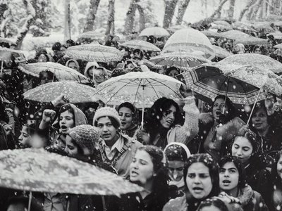 """Untitled from the series """"Witness 1979"""" by Hengameh Golestan, March 11 1979"""