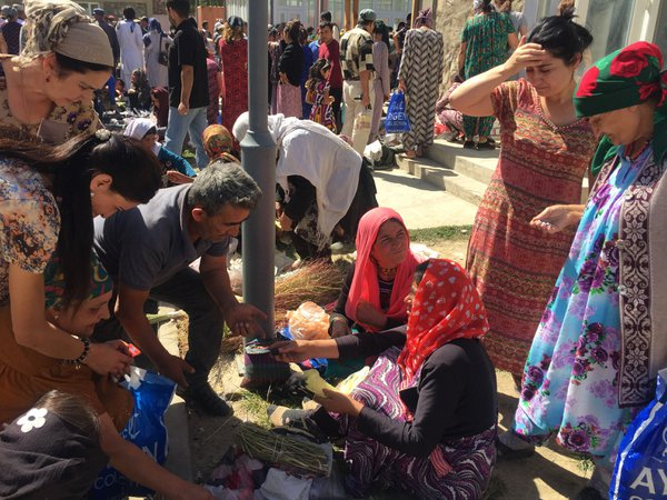 Market under the bridge on Afghanistan-Tajikistan boarder thumbnail