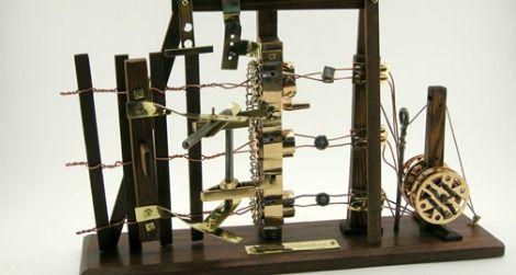 A model of Conrad F. Bartling's 1888 fence-building machine