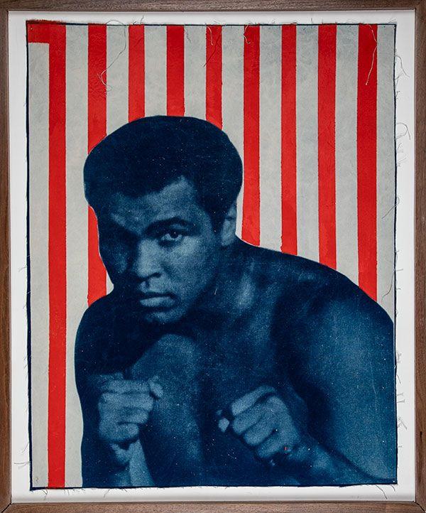 <i>Know Your Right</i> [Muhammad Ali/Cleveland Summit], 2018. David Alekhuogie. Courtesy of the artist.