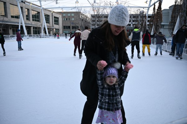 Ada and Abby Ice skating thumbnail