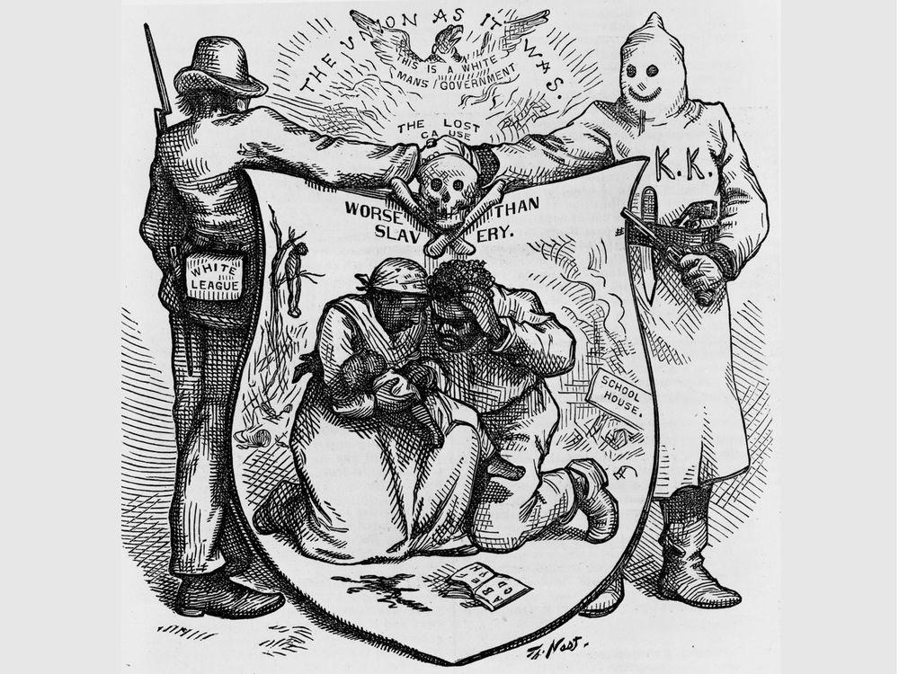 Thomas Nast cartoon of the KKK