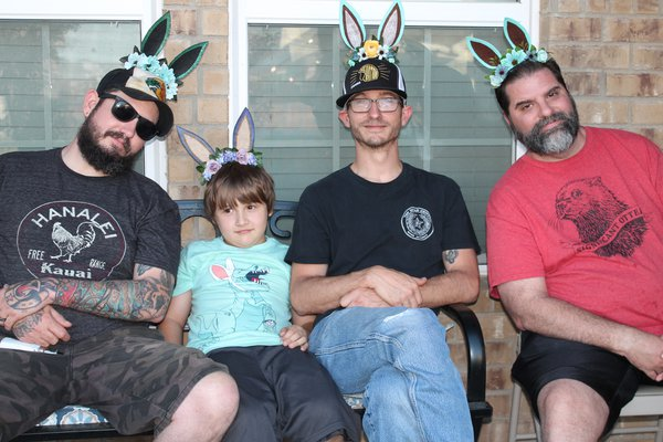 Been Boys on the front porch after Easter Dinner thumbnail