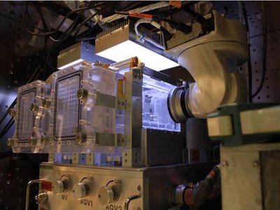 A special fish tank designed for experiments aboard the International Space Station.
