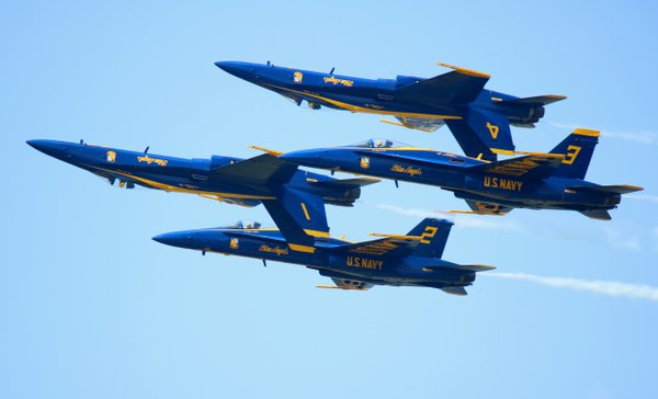 Blue Angels in Formation at Airshow  thumbnail