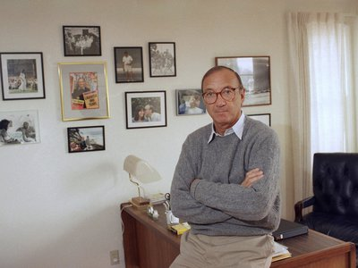 Playwright Neil Simon in his Los Angeles office in 1988.