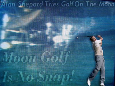 """Alan Shepard, who was both an astronaut and a golf lover, said he got the idea while training for his Apollo 14 mission. """"I thought: What a neat place to whack a golf ball."""""""
