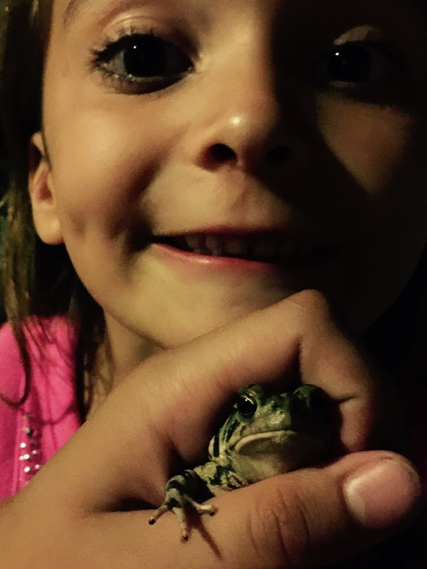 Little girl experiencing nature for the first time thumbnail