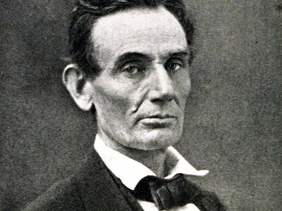A portrait of Abraham Lincoln in 1861 shows how the man would not have been amused by this theft.