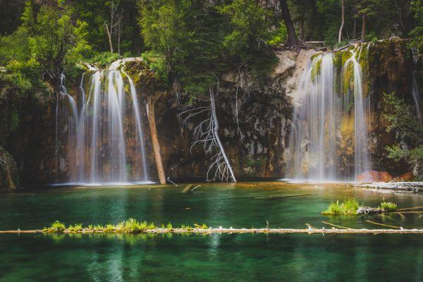 Serene Hanging Lake Waterfalls thumbnail