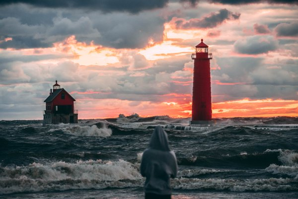 After a storm in Grand Haven, Michigan thumbnail