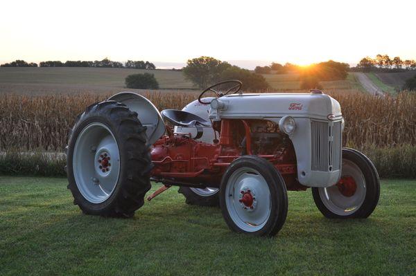 1952 8N Ford Tractor  at Sunrise in Lancaster County Nebraska thumbnail
