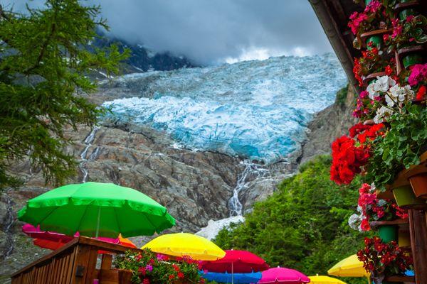 Colors and Glacier des Bossons, Chamonix - Mont Blanc, France thumbnail