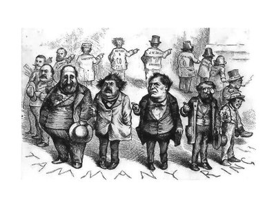Boss Tweed and the Tammany Ring, caricatured by Thomas Nast, c. 1870