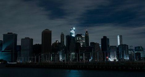 A dark Manhattan after Superstorm Sandy