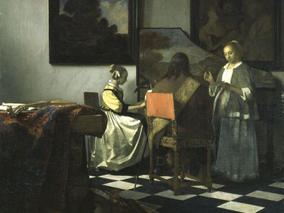 """Vermeer's """"The Concert"""" was stolen by thieves in the 1990 heist. It is one of just 36 paintings by the artist in existence."""