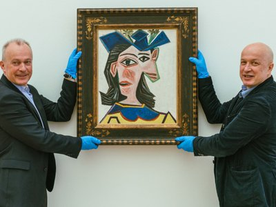 On April 16, the 1939 portrait will travel to a Swiss art lover's home for a 24-hour visit