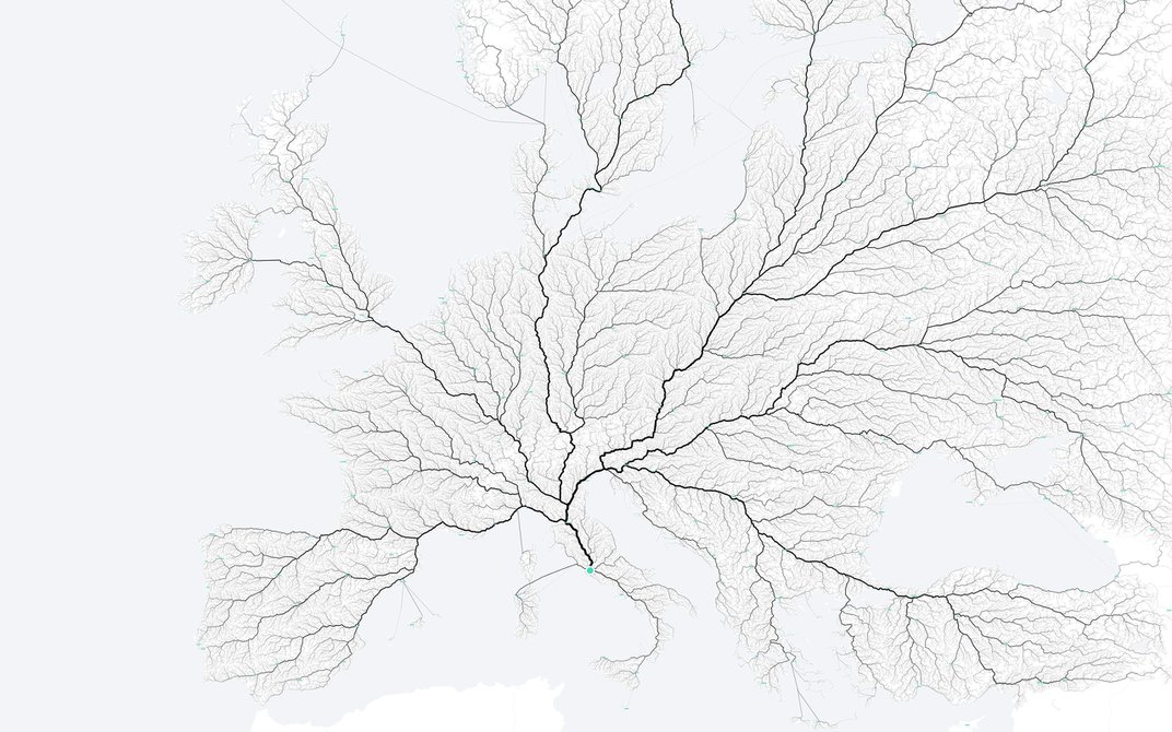 The Many Roads That Lead to Rome, Visualized