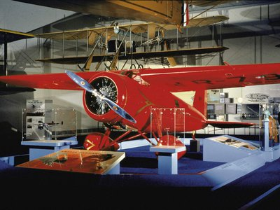 Amelia Earhart flew this Lockheed 5B Vega solo across the Atlantic and non-stop across the United States -- both firsts for a woman. Earhart left a greater legacy than her many record flights. She also helped promote aviation and air travel, especially among women, and proved that a woman could handle an airplane as well as a man.