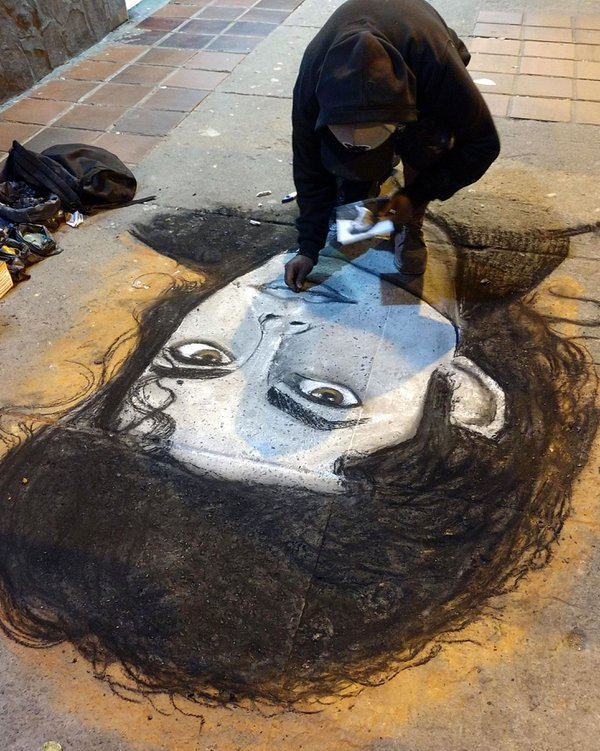 MJ as sidewalk art thumbnail