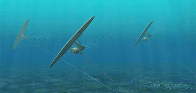 Underwater kite design by Minesto