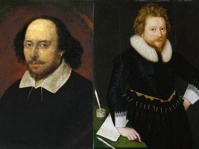William Shakespeare (left) and John Fletcher (right) both contributed to Henry VIII, a new study suggests.