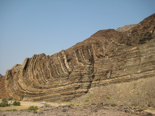 Large scale folding in a dry river valley in Namibia thumbnail