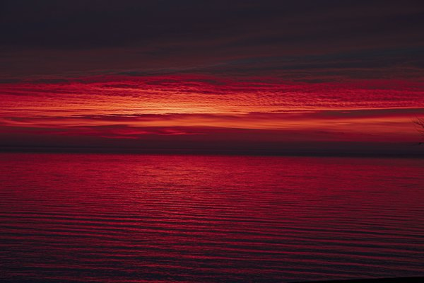 Red Predawn Light Over the Chesapeake Bay thumbnail