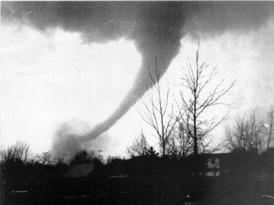 """The Sayler Park tornado which struck the Cincinnati area as part of the """"Super Outbreak"""" was a category F5 storm on the Fujita scale, the highest possible rating on the scale."""