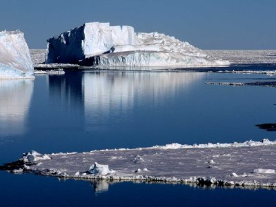A polynya opens up in the Weddell Sea.