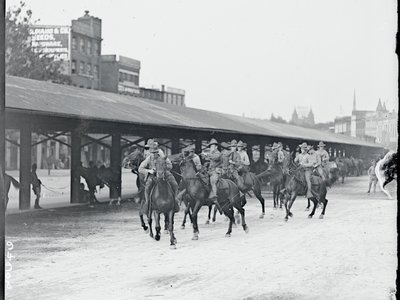 Members of the 3rd Calvary arrive in D.C. to quash the racial unrest