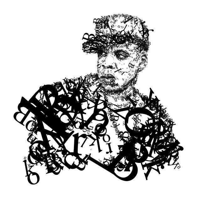 typographic illustration of artist Jay-Z