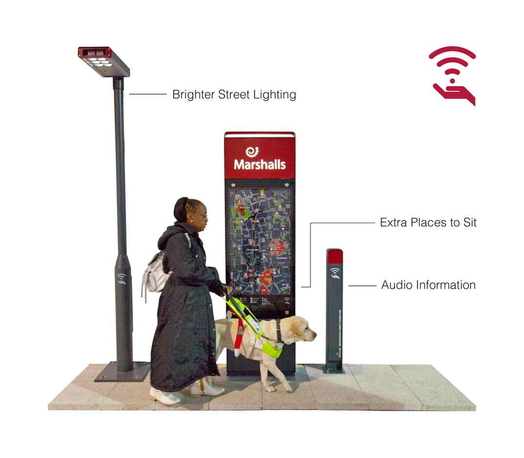 What If City Streetlights Brightened and Signs Spoke As You Passed?