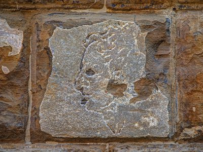 A carving on the wall of Florence's Palazzo Vecchio may be the work of Michelangelo.