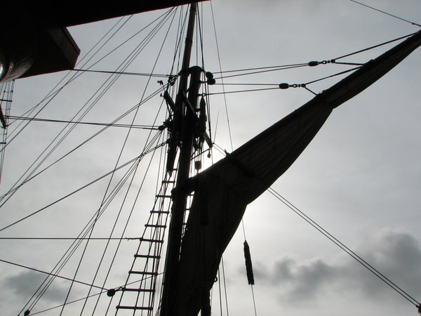 Ship's mast at Albert Dock-Liverpool, England thumbnail