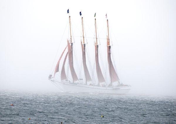 Schooner in the mist thumbnail
