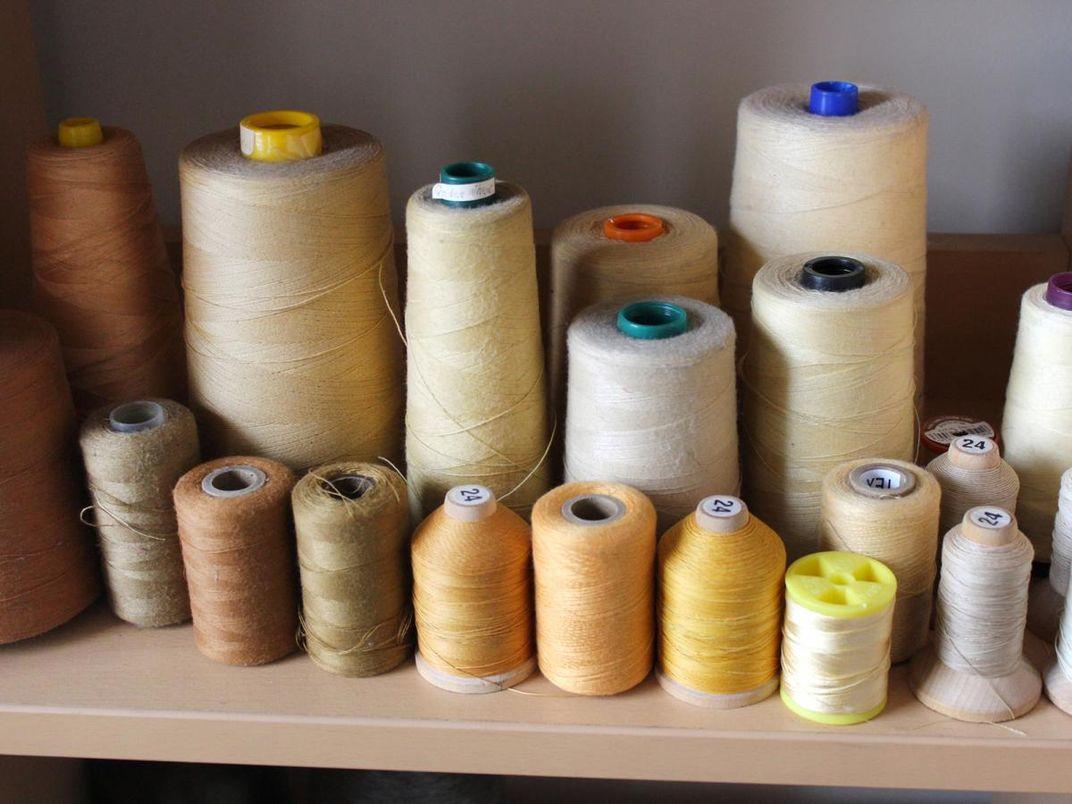 A photograph of yarn