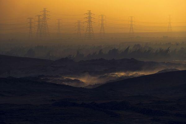 Sunrise over Mount Arousa, Upper Egypt, Minya, Egypt thumbnail