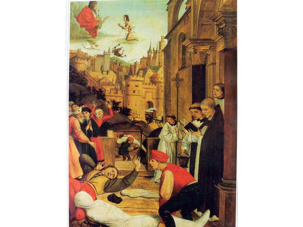 Justinianic Plague painting