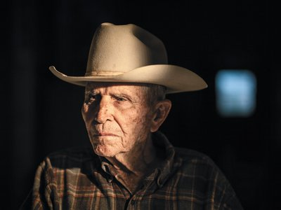 Ray Halliburton, 92, at his ranch in Luling, Texas
