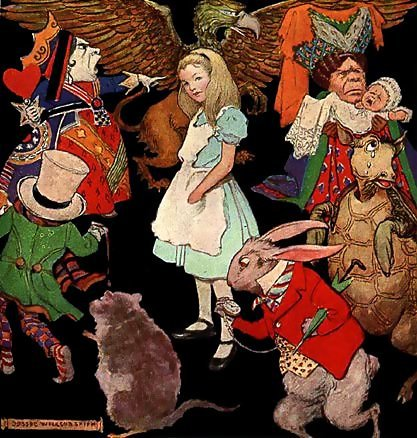 """Illustration from The Nursery """"Alice"""" by Lewis Carroll, 1890"""