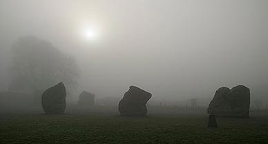 Avebury is 16 times the size of Stonehenge.  Tourists are free to wander among 100 stones, ditches, mounds and curious patterns from the past.