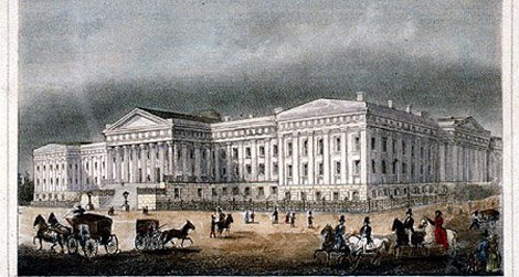 The Patent Office Building as it looked before the Civil War