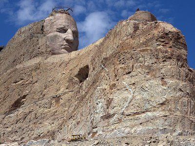 The beginning of the Crazy Horse Memorial.