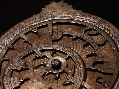 Astrolabes were astronomical calculating devices that did everything from tell the time to map the stars. This 16th century planispherical astrolabe stems from Morocco.
