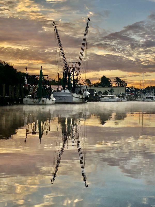 Shrimp boats at morning light thumbnail