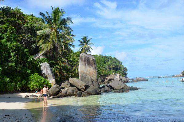 Stones on the beach, Mahe island, Seychelles thumbnail