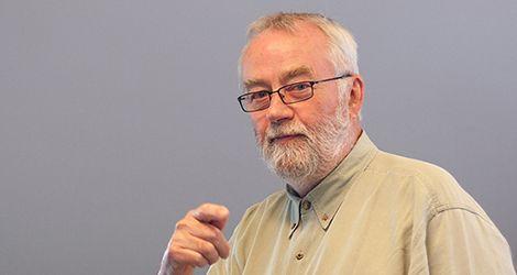 Bill Moggridge speaking in Copenhagen